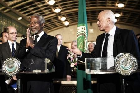 Kofi Annan et Nabil al-Arabi au Caire : apparemment, l'ASL n'a plus trop la cote