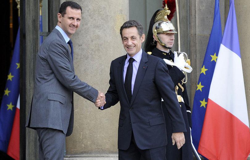 """Un grand moment dramatique : Sarkozy tentant une dernière fois d'attirer Bachar al-Assad chez les""""gens raisonnables"""", en décembre 2010"""