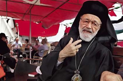 Mgr Hilarion Capucci, infatigable défenseur de la cause palestinienne et aujourd'hui, de la Syrie syrienne.