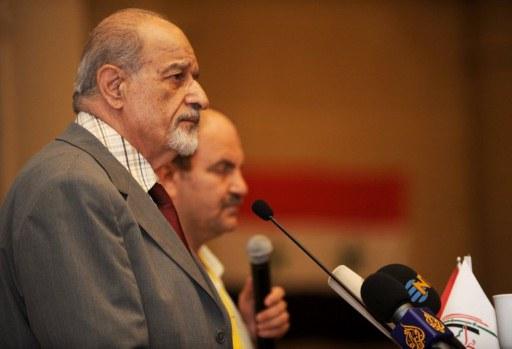 """Haytham al-Maleh à Istambul en juillet dernier, à l'époque où il était encore """"CNS-compatible"""""""