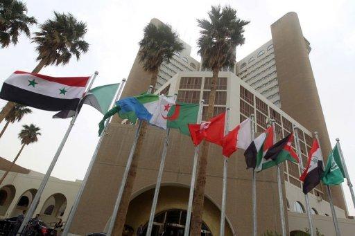 A Bagdad, le drapeau syrien flottait, malgré l'absence de représentants de Damas : un geste irakien qui laisse bien augurer de la nouvelle présidence de la Ligue arabe