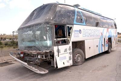 Les groupes armés qui ont ciblé ce bus de l'armée jeudi 12 avril avaient-ils perdu leur montre ?