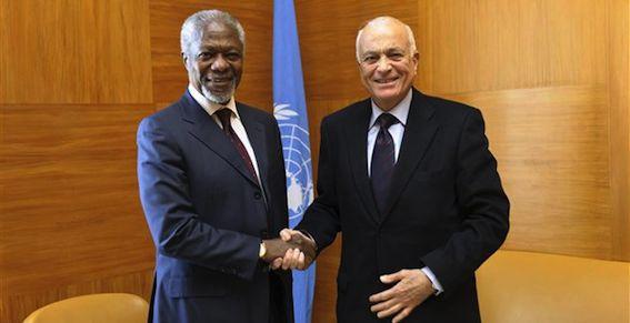 Un binôme diplomatique d'un type nouveau : Kofi Annan négocie avec Bachar et Nabil al-Rabi attaque Bachar, tout ça dans le cadre d'une mission commune !