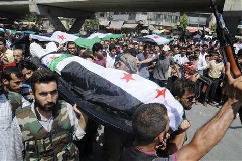 Obsèques des généraux syriens