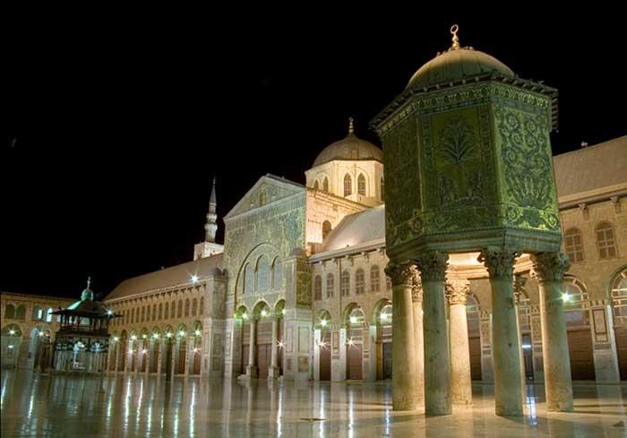 La mosquée des Omeyyades, près de laquelle vivent Nicolas, sa femme et leur bébé
